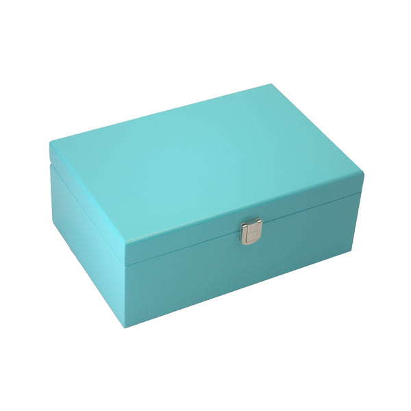 TEAL BLUE JEWEL BOX