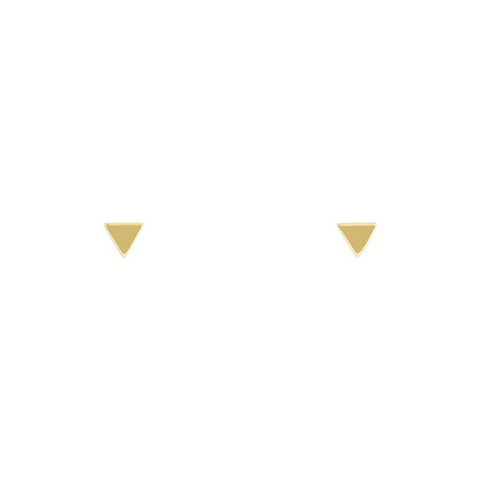 GOLD SUPER FINE TRIANGLE STUDS