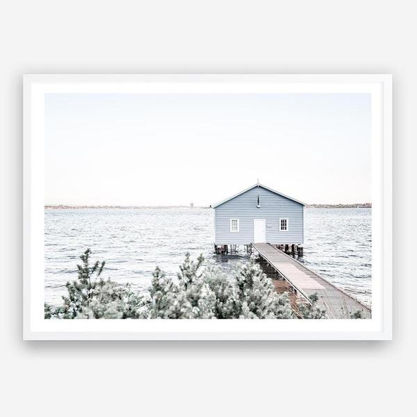 Blue Boat Shed by The Print Emporium. In stock, in store only.