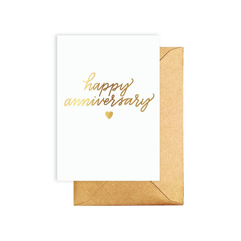 HAPPY ANNIVERSARY GOLD CARD