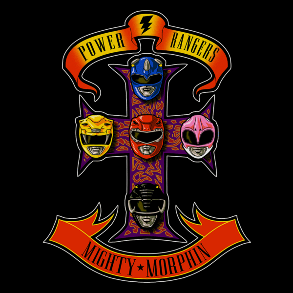 Power Rangers How They Are Made Pop Up Tee
