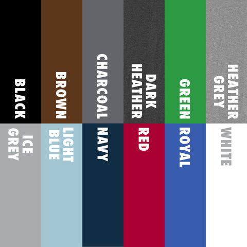 Pop Up Tee Shirt Color Options