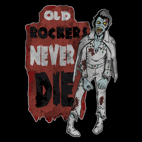 Old Rockers Never Die T-Shirt