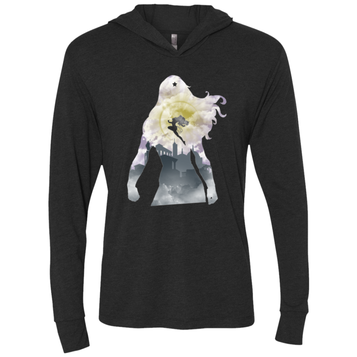 The Princess Triblend Long Sleeve Hoodie Tee