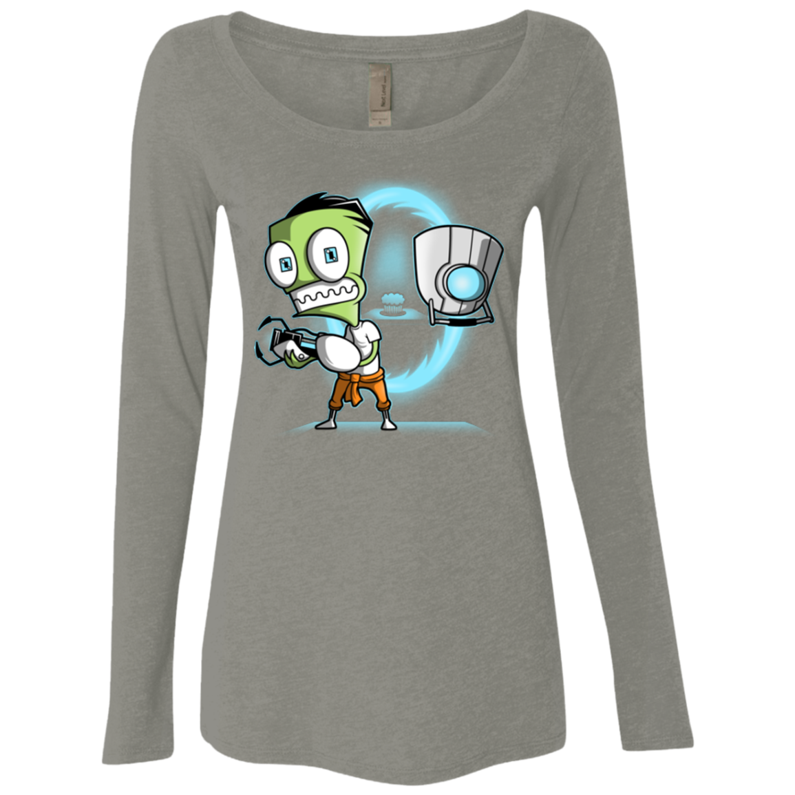THE CUPCAKE IS A LIE Women's Triblend Long Sleeve Shirt
