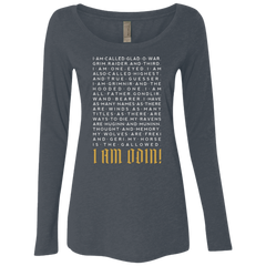 I am Odin Women's Triblend Long Sleeve Shirt