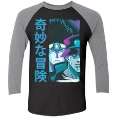 Bizarre Adventure Men's Triblend 3/4 Sleeve