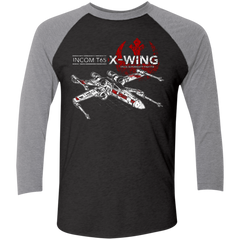 T-65 X-Wing Men's Triblend 3/4 Sleeve