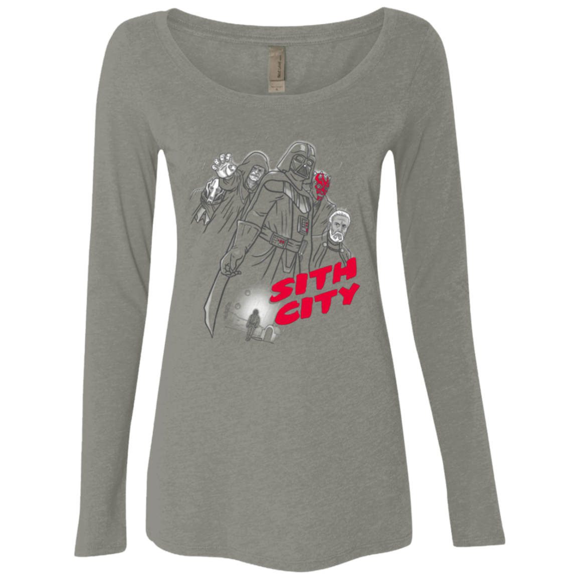 Sith city Women's Triblend Long Sleeve Shirt
