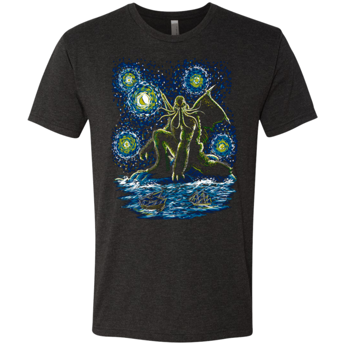 Night of Cthulhu Men's Triblend T-Shirt