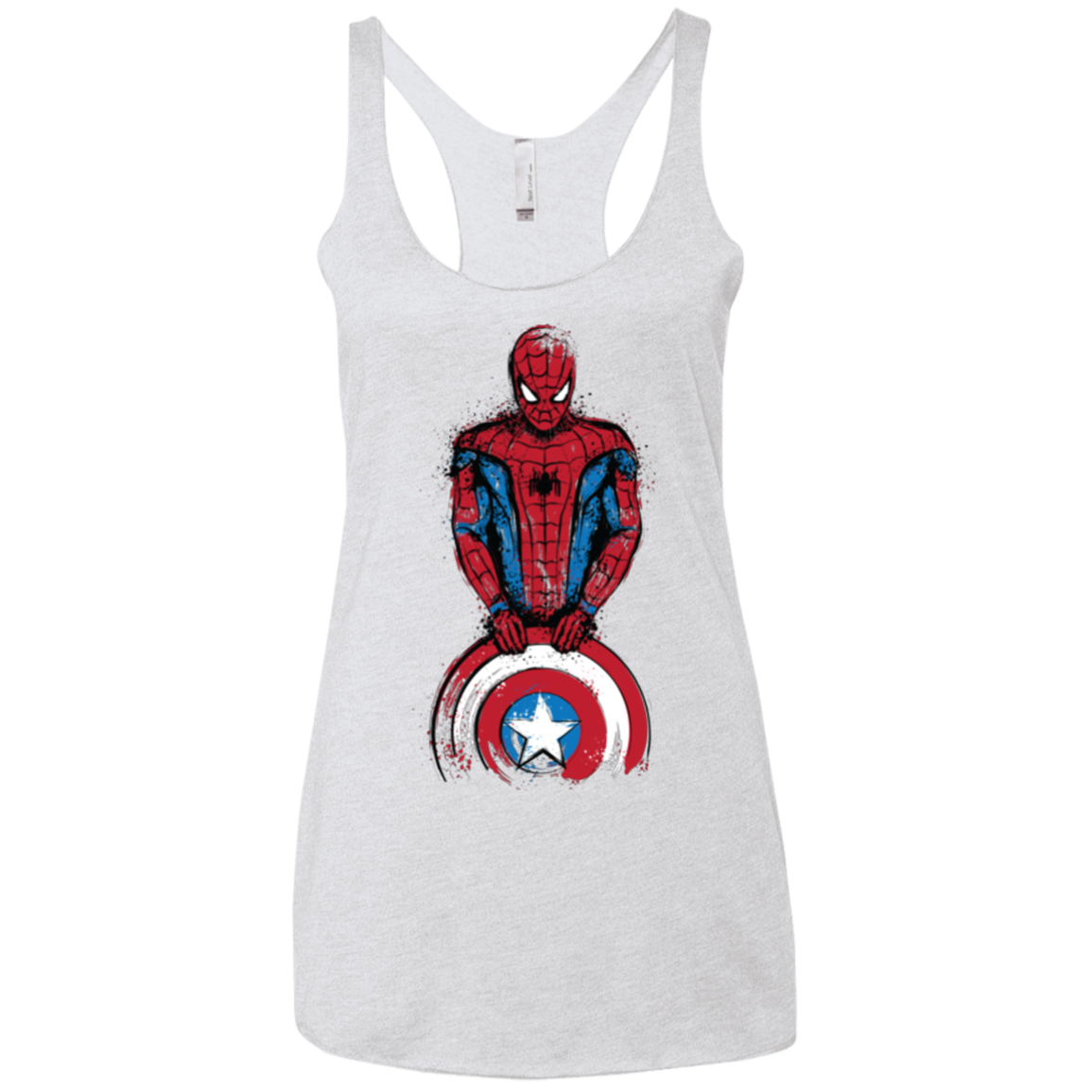 The Spider is Coming Women's Triblend Racerback Tank
