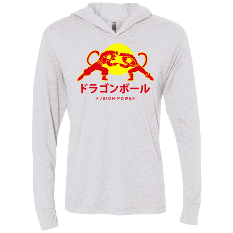 Fusion power Triblend Long Sleeve Hoodie Tee
