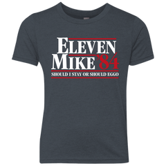Eleven Mike 84 - Should I Stay or Should Eggo Youth Triblend T-Shirt