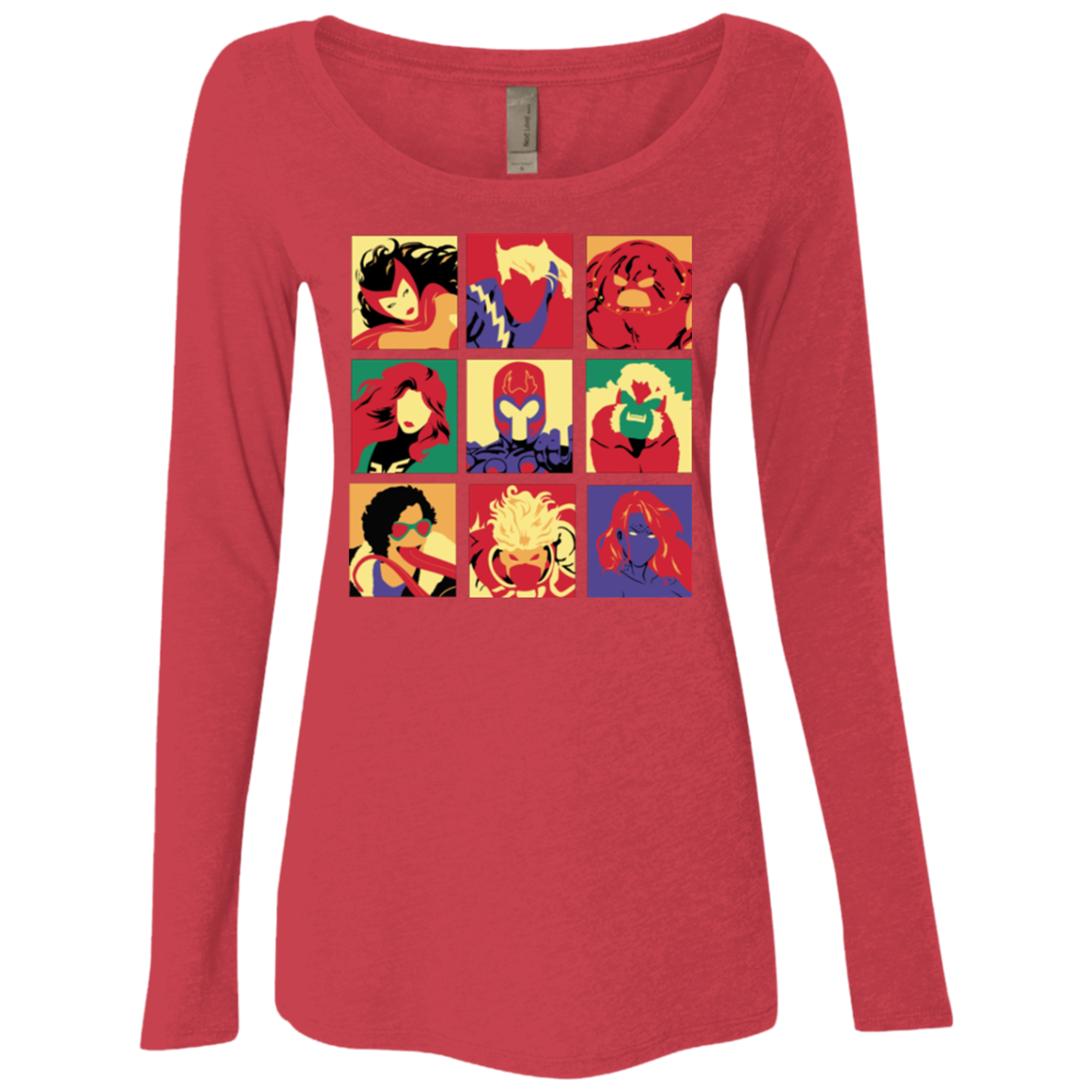 X villains pop Women's Triblend Long Sleeve Shirt