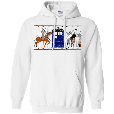 Nocens Lupus Tardis in the Bayeux Tapestry Pullover Hoodie