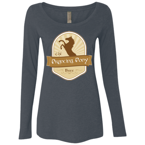 Prancing Pony Women's Triblend Long Sleeve Shirt
