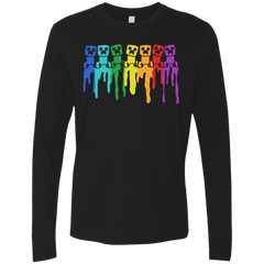 Rainbow Creeps Men's Premium Long Sleeve