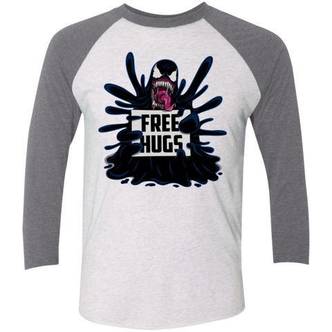 Symbiote Hugs Men's Triblend 3/4 Sleeve