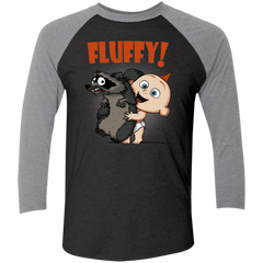 Fluffy Raccoon Men's Triblend 3/4 Sleeve