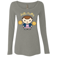 Hello Pretty Women's Triblend Long Sleeve Shirt