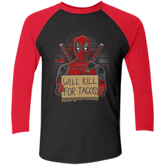 Will Kill for Tacos Men's Triblend 3/4 Sleeve