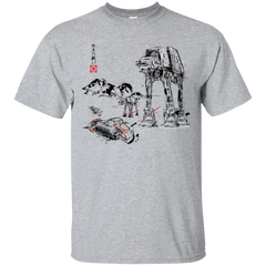 Battle in the Snow Sumi e T-Shirt