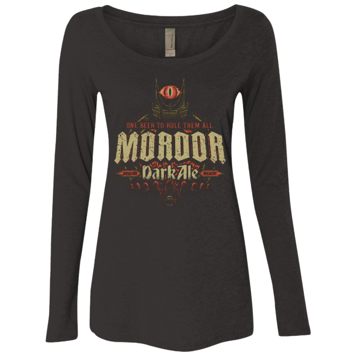 Mordor Dark Women's Triblend Long Sleeve Shirt