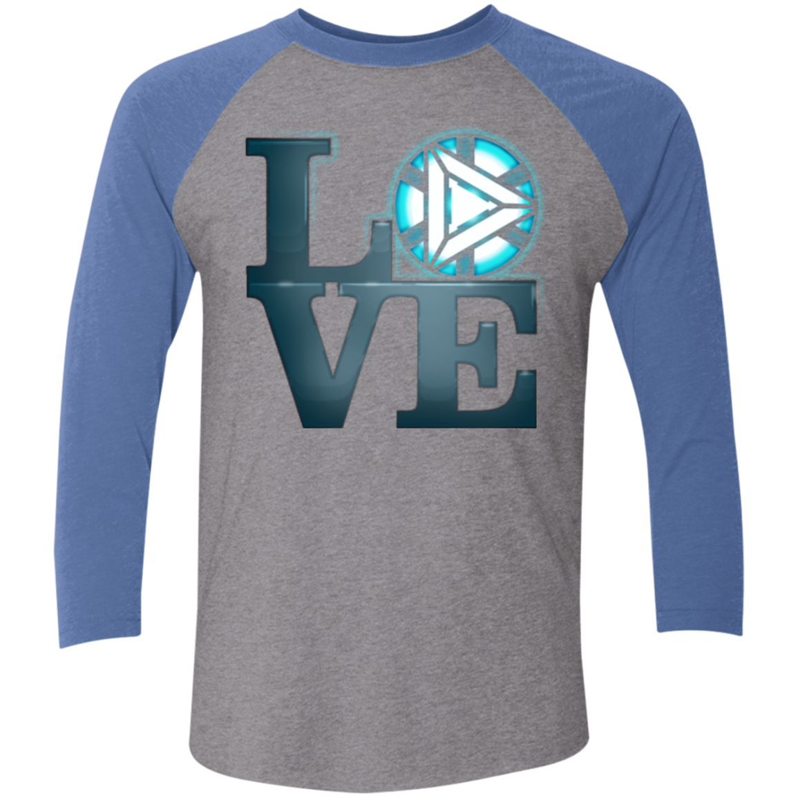 Love Stark Men's Triblend 3/4 Sleeve