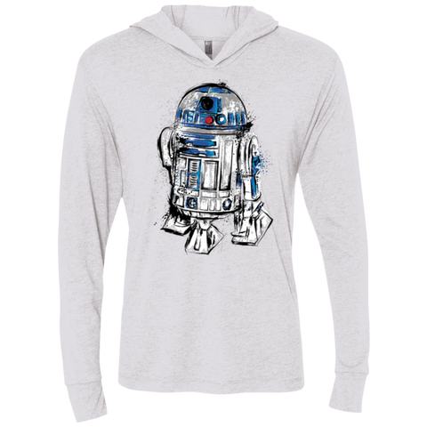 More than a droid Triblend Long Sleeve Hoodie Tee