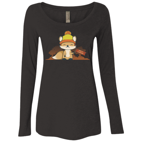 Pretty Cunning Women's Triblend Long Sleeve Shirt