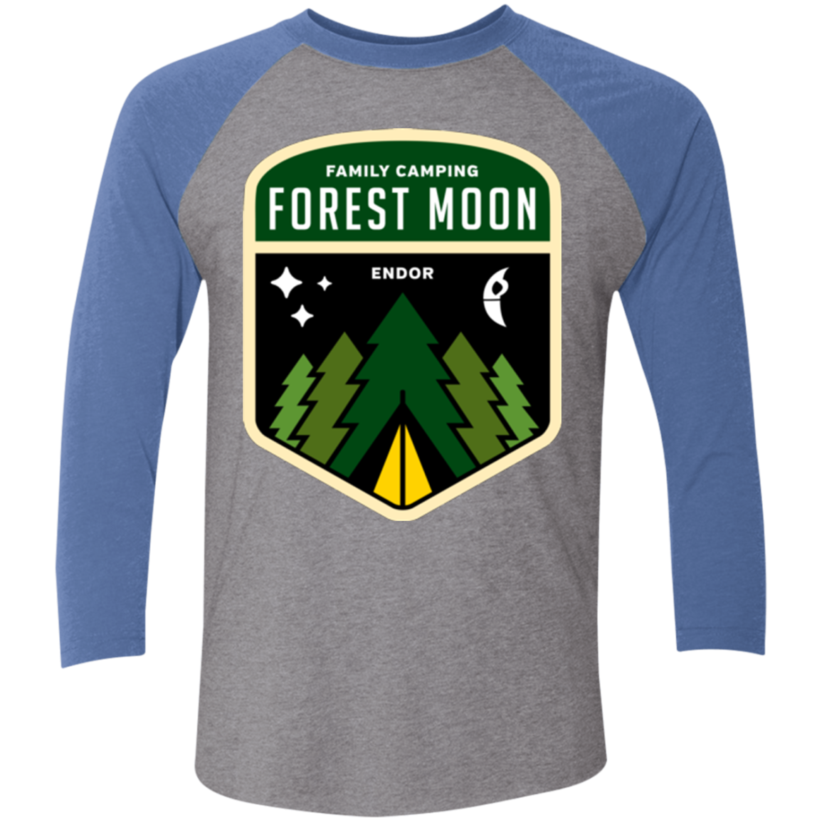 Forest Moon Triblend 3/4 Sleeve