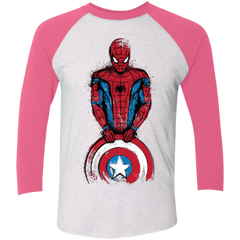 The Spider is Coming Men's Triblend 3/4 Sleeve