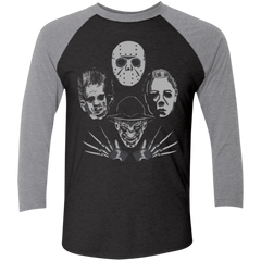 HORROR RHAPSODY 2 Men's Triblend 3/4 Sleeve