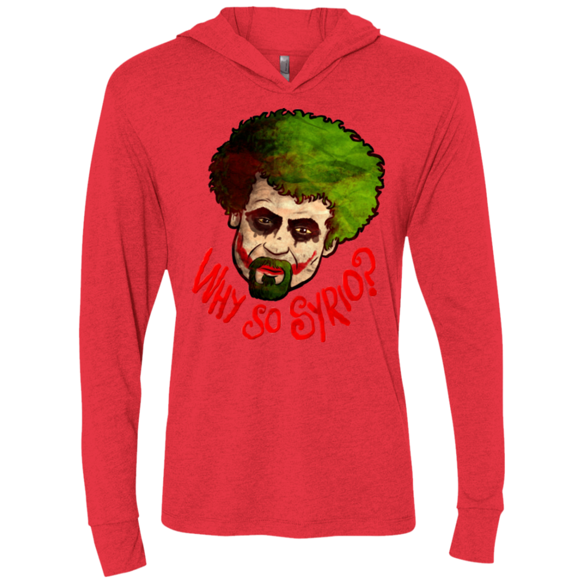 Why So Syrio Triblend Long Sleeve Hoodie Tee