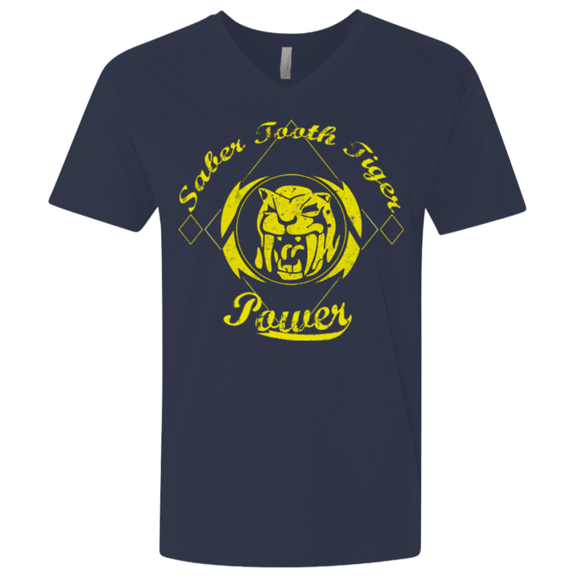 Saber Tooth Tiger (1) Men's Premium V-Neck