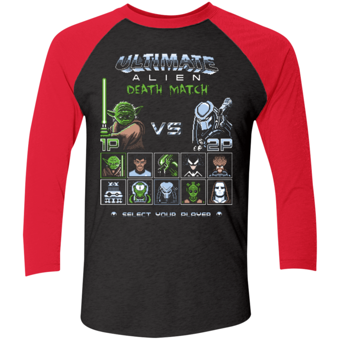 Ultimate alien deathmatch Men's Triblend 3/4 Sleeve