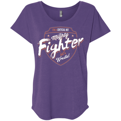 Fighter Triblend Dolman Sleeve