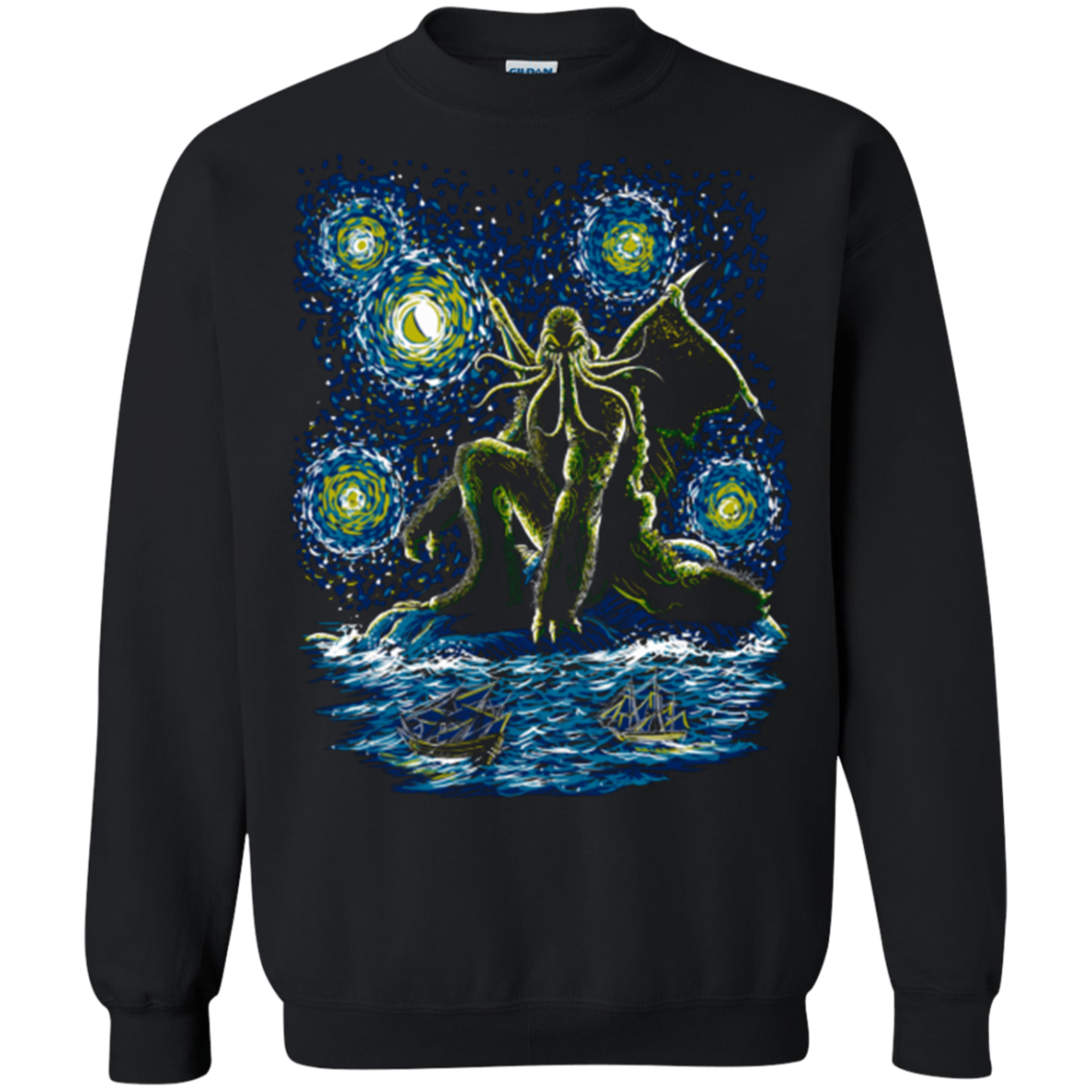 Night of Cthulhu Crewneck Sweatshirt