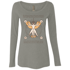 Vitruvian Aang (1) Women's Triblend Long Sleeve Shirt