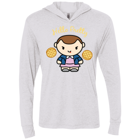 Hello Pretty Triblend Long Sleeve Hoodie Tee