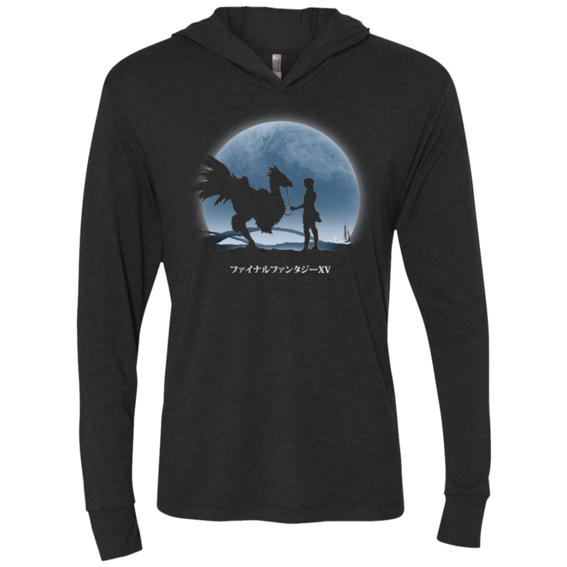 Duscae at Night Triblend Long Sleeve Hoodie Tee