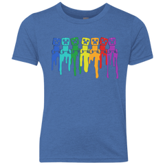 Rainbow Creeps Youth Triblend T-Shirt