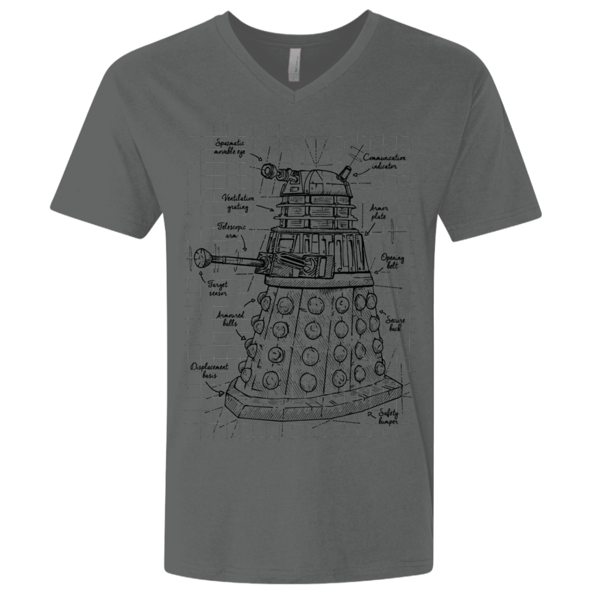 Dalek Plan Men's Premium V-Neck