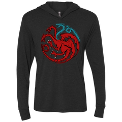 Trinity of fire and ice V2 Triblend Long Sleeve Hoodie Tee