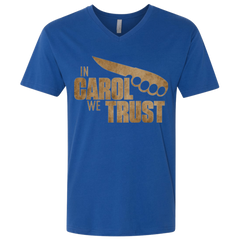 In Carol We Trust Men's Premium V-Neck