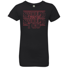 Should I Stay Or Should I Go Girls Premium T-Shirt