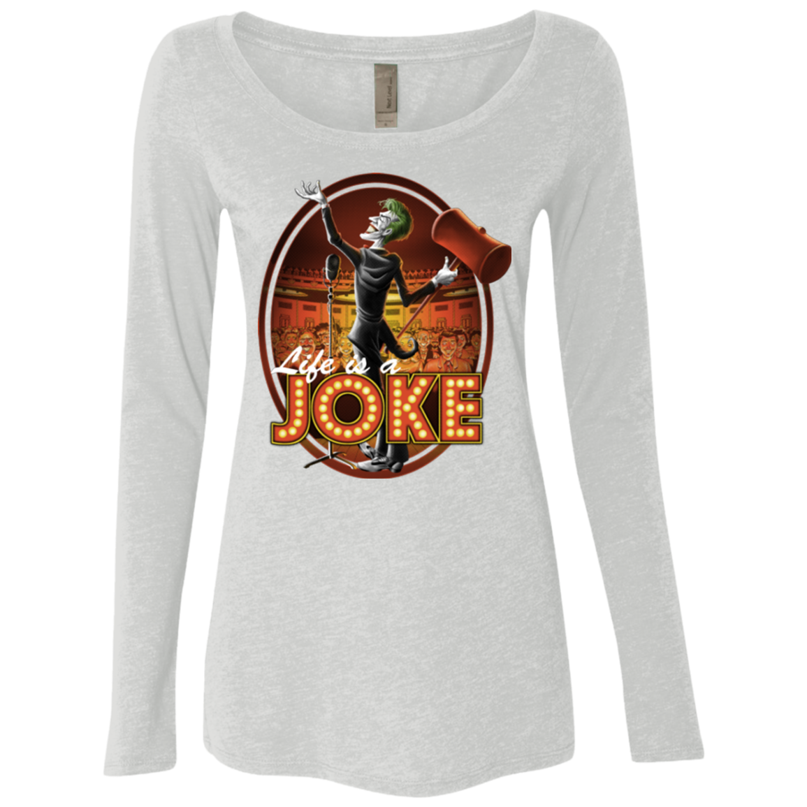 Life Is A Joke Women's Triblend Long Sleeve Shirt