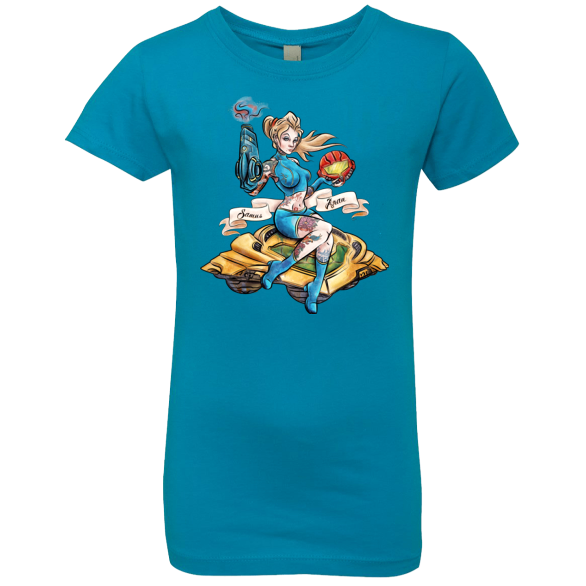 PINUP SAMUS Girls Premium T-Shirt