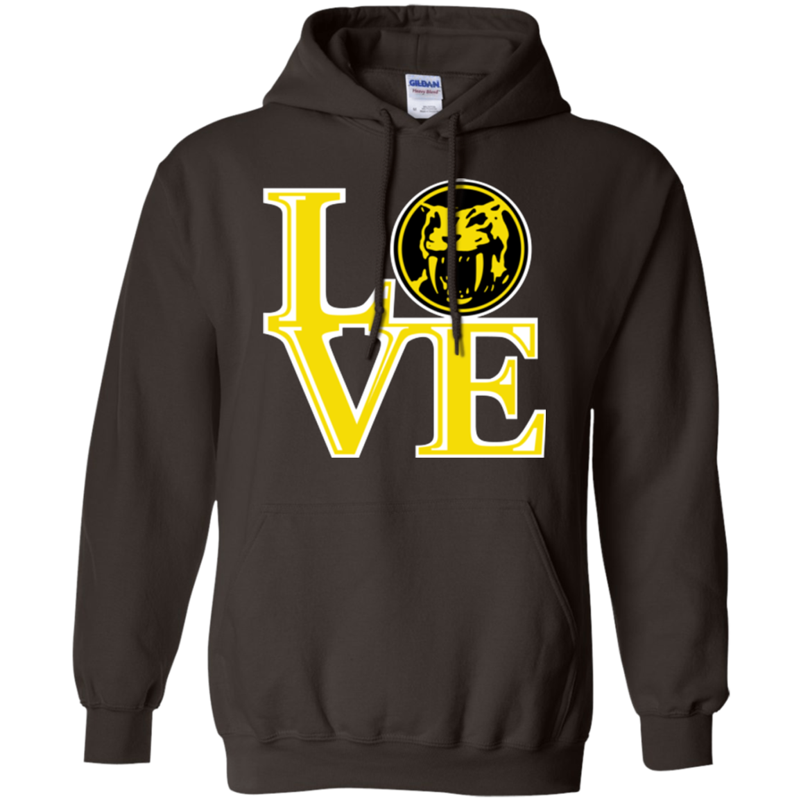 Yellow Ranger LOVE Pullover Hoodie