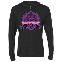 OBEDIENT EXPENDABLE FOOT SOLDIERS Triblend Long Sleeve Hoodie Tee